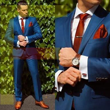 Mens suits light blue