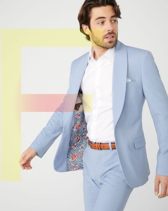 place for baby blue suits
