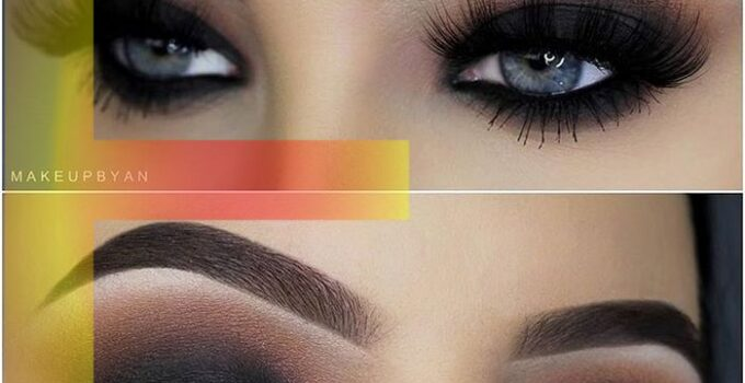 Attractive sleepy killer smoky eyes make up